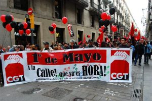 Primero de Mayo de CGT: «A la calle, que ya es hora!» Crónicas e imágenes.