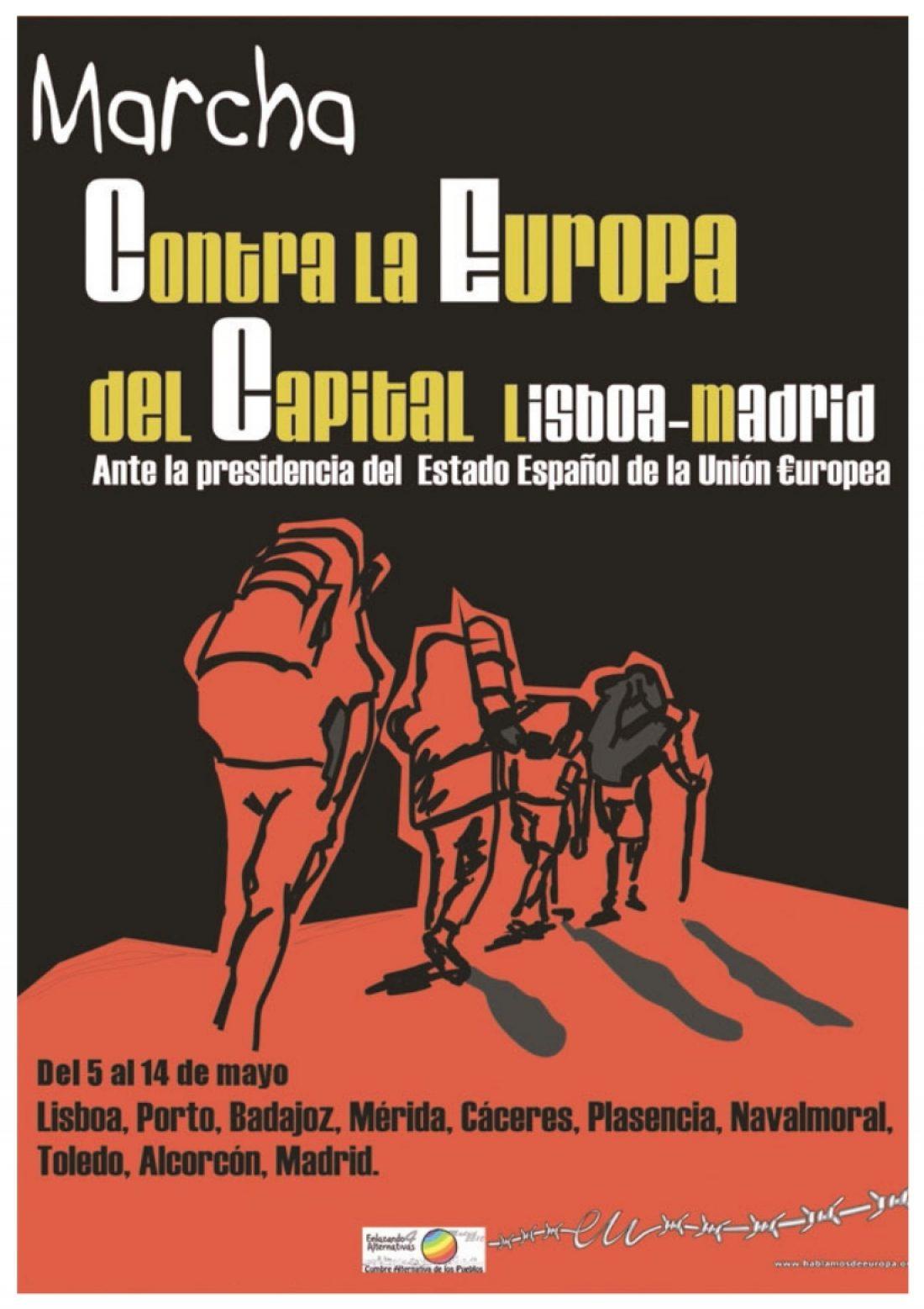 La Marcha Lisboa-Madrid contra la €uropa del capital llega a Extremadura