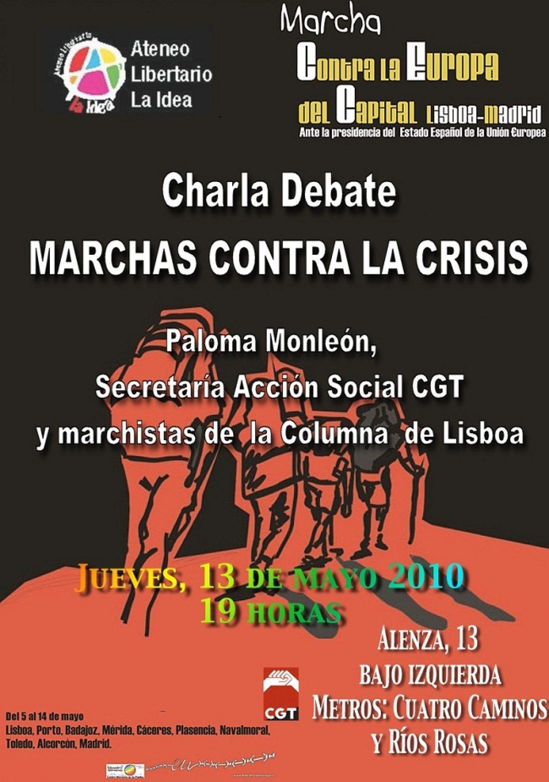 Madrid, 13 de Mayo: Charla sobre las Marchas contra la crisis