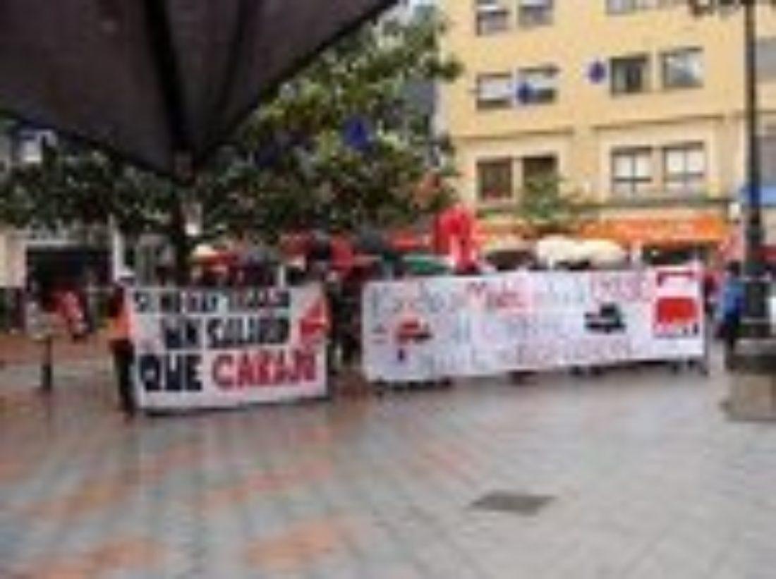 Crónicas de las acciones por las Marchas contra la Crisis de CGT en Ponferrada, Burgos, Valladolid, León y Ávila.