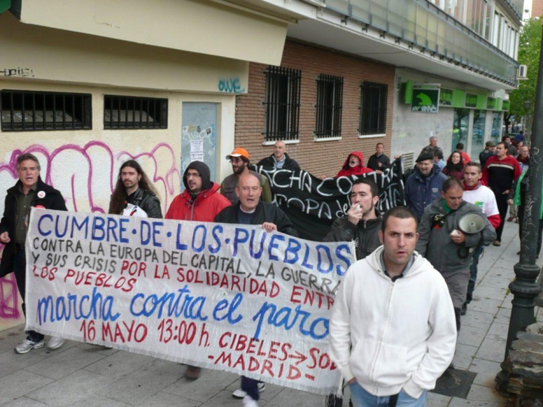La marcha contra la Europa del capital y sus crisis procedente de Lisboa recorrió Alcorcón (12/5/10)