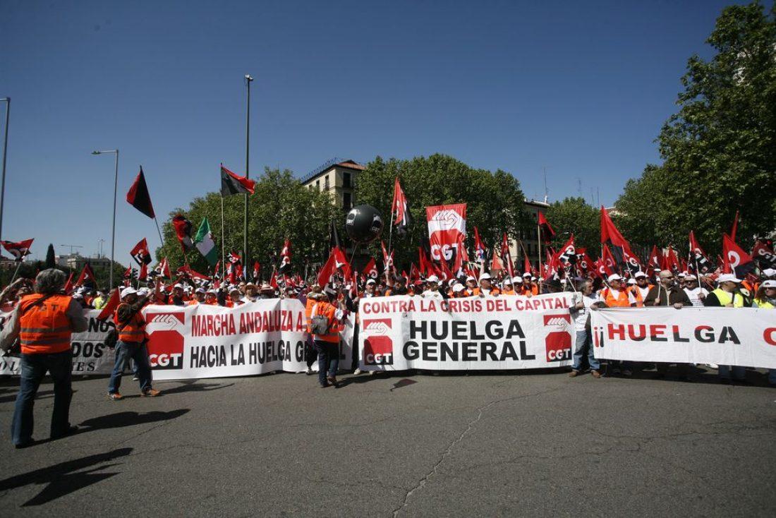 La CGT toma las calles de Madrid, en contra de la Europa del capital y sus crisis.