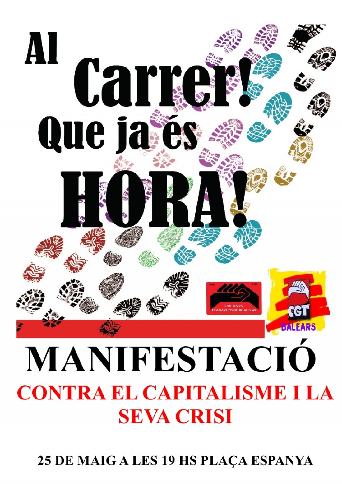 Palma, 25 de Mayo: Manifetación contra el capitalismo y sus crisis