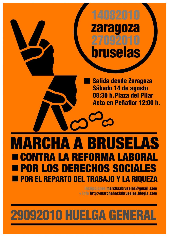 Marcha a Bruselas contra la reforma laboral y por los derechos sociales