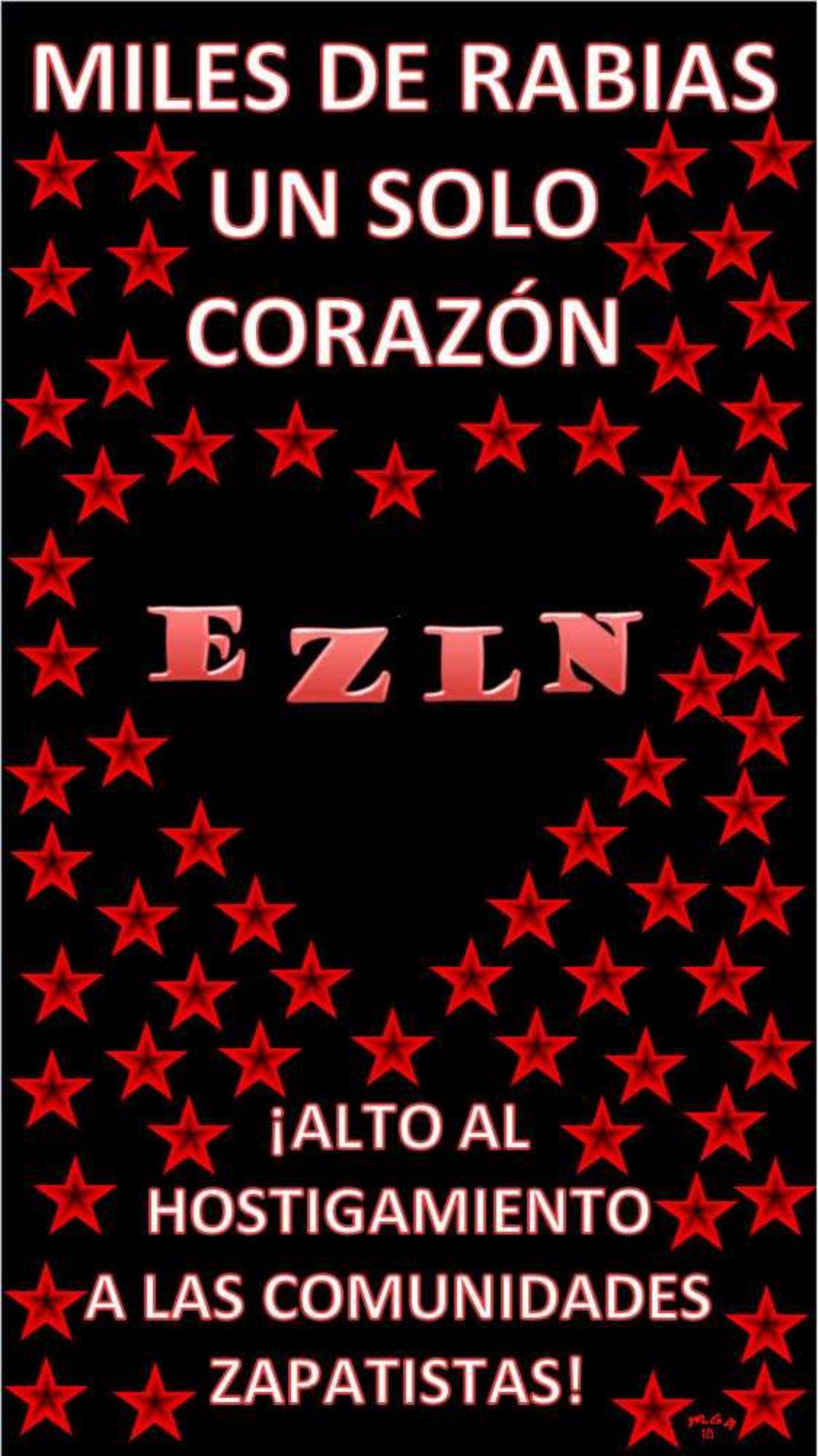"""16 de Agosto: segundo día de acciones de la Campaña """"Miles de rabias, un corazón: ¡vivan las comunidades zapatistas!"""""""