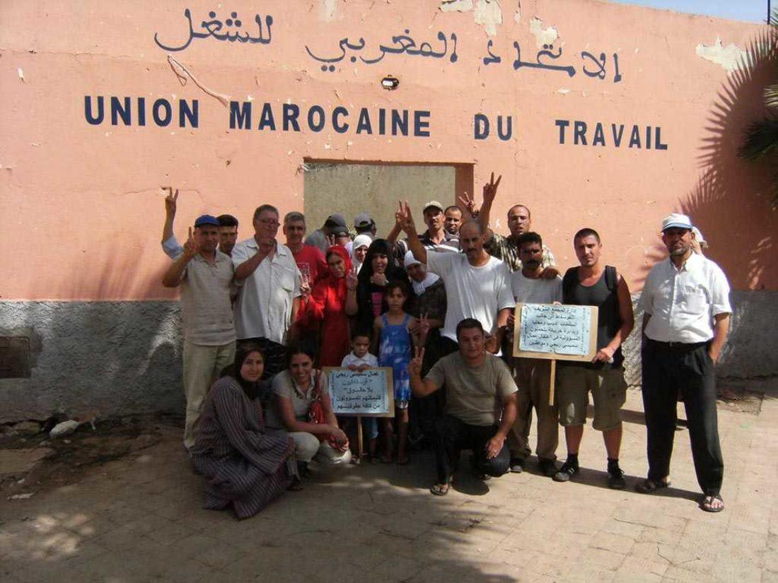 CNT-F y CGT visitan a los mineros de Khouribga (Marruecos)