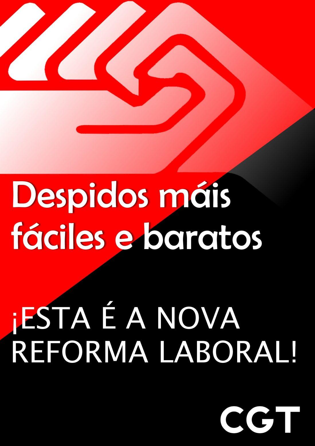 CGT A Coruña inicio una campaña informativa contra la reforma laboral