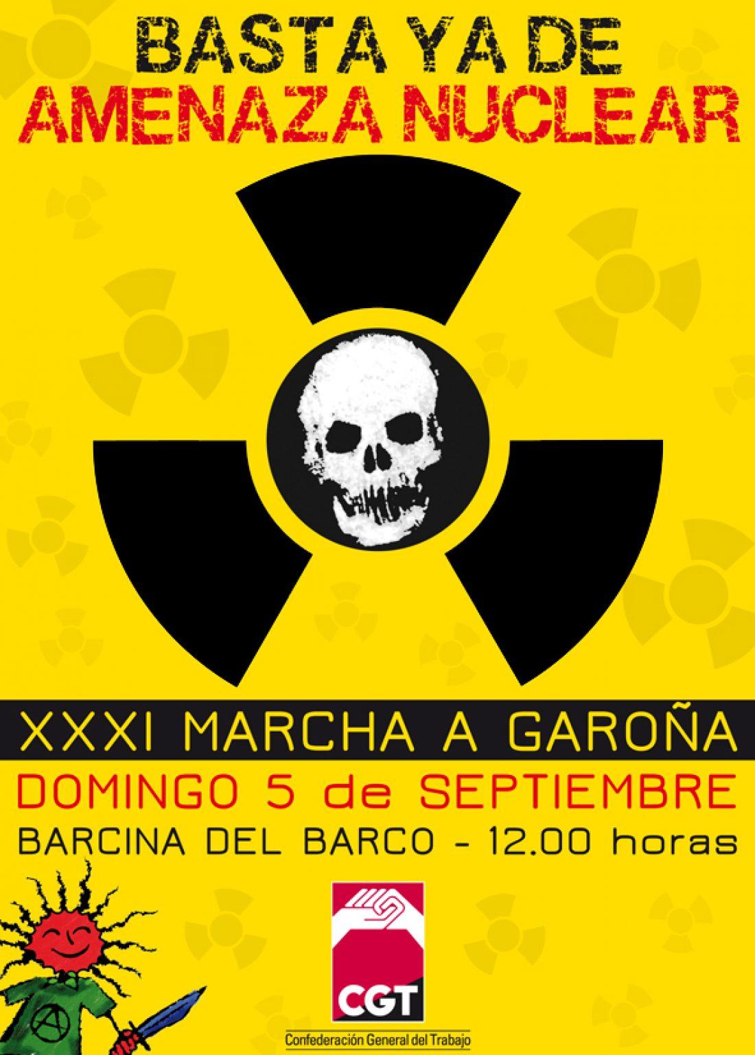 5 de Septiembre: CGT llama a la participación en la XXXI Marcha por el cierre de la central nuclear de Garoña