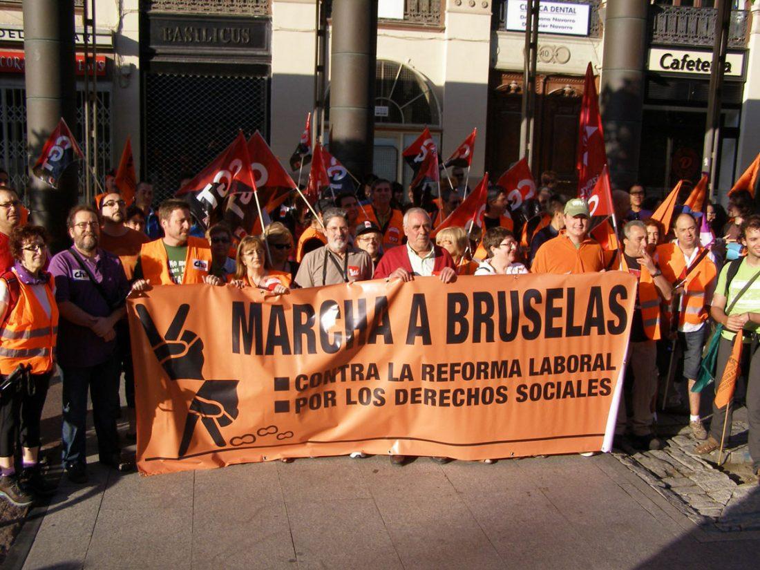 Comenzó la Marcha Zaragoza-Bruselas por los derechos sociales y laborales (14/8/10)