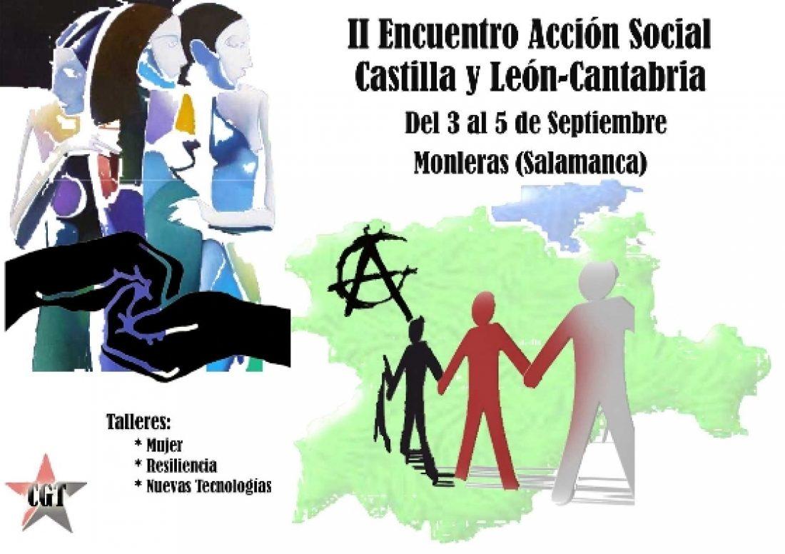 II Encuentro de Acción Social de la CGT Castilla y León-Cantabria (del 3 al 5 de septiembre en Monteras -Salamanca)