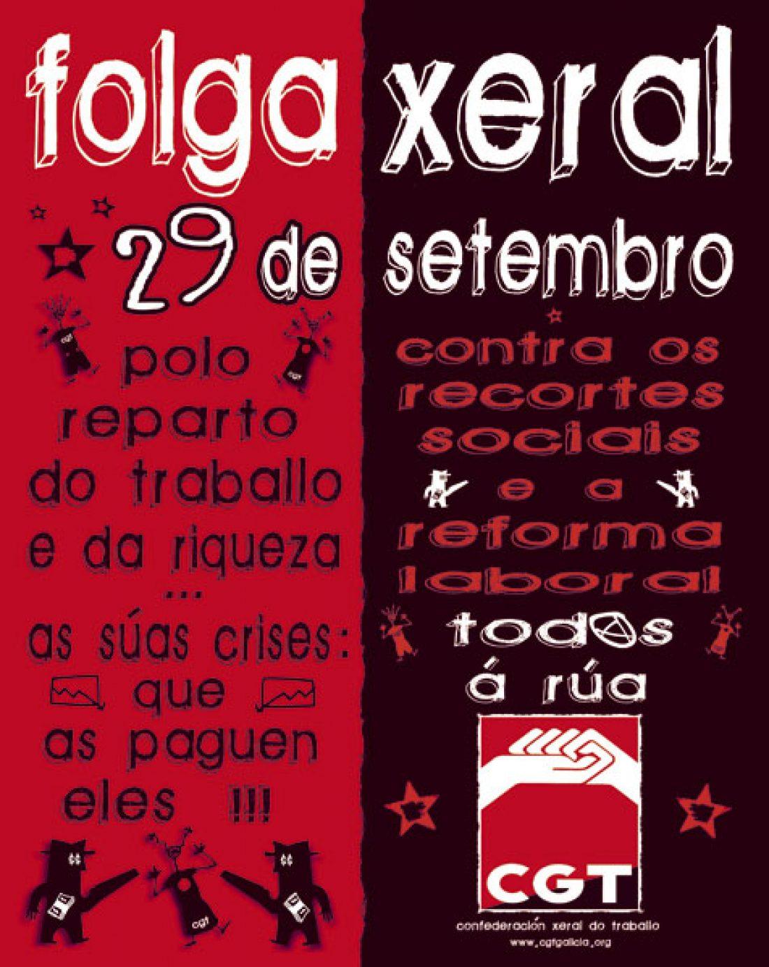 Vigo, 1 y 2 de Septiembre: Asambleas Extraordinarias para preparar la huelga general del 29-S