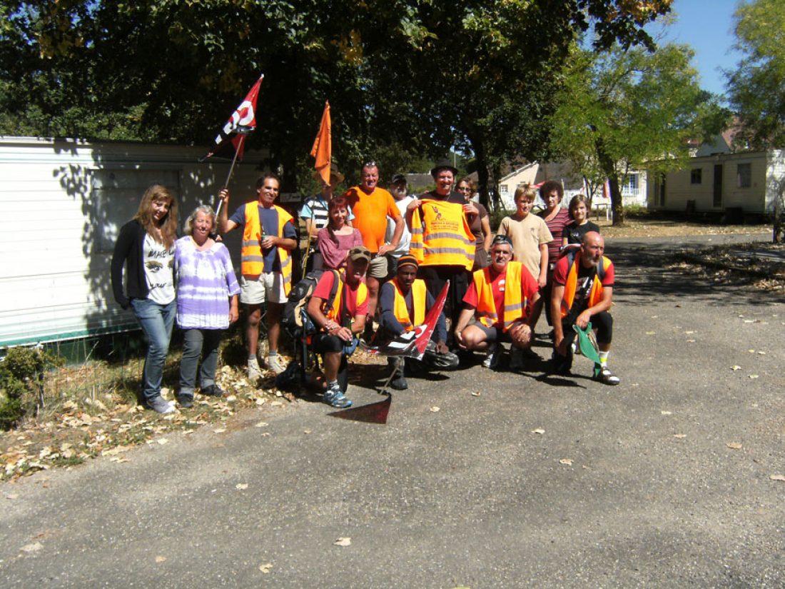 Dos etapas más en el recorrido de la Marcha a Bruselas por tierras francesas