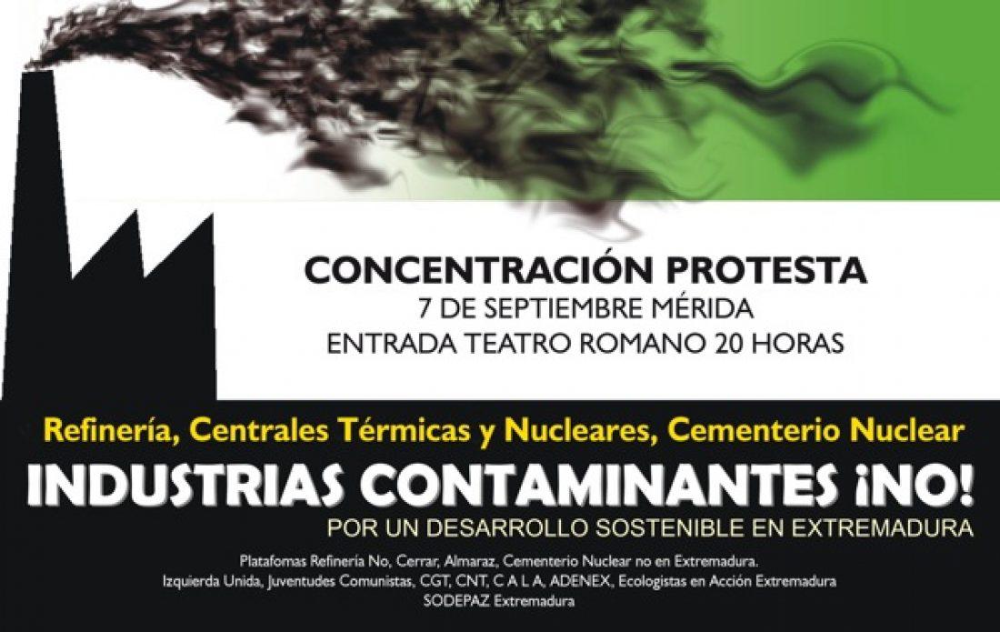 Mérida, 7 de septiembre: Concentración Día de Extremadura – ¡Industrias contaminantes NO!