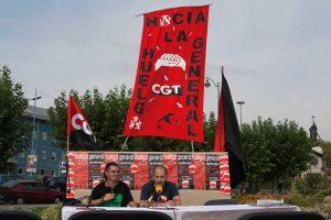 La policía asalta y desmantela el Campamento Libertario de CGT en Valladolid