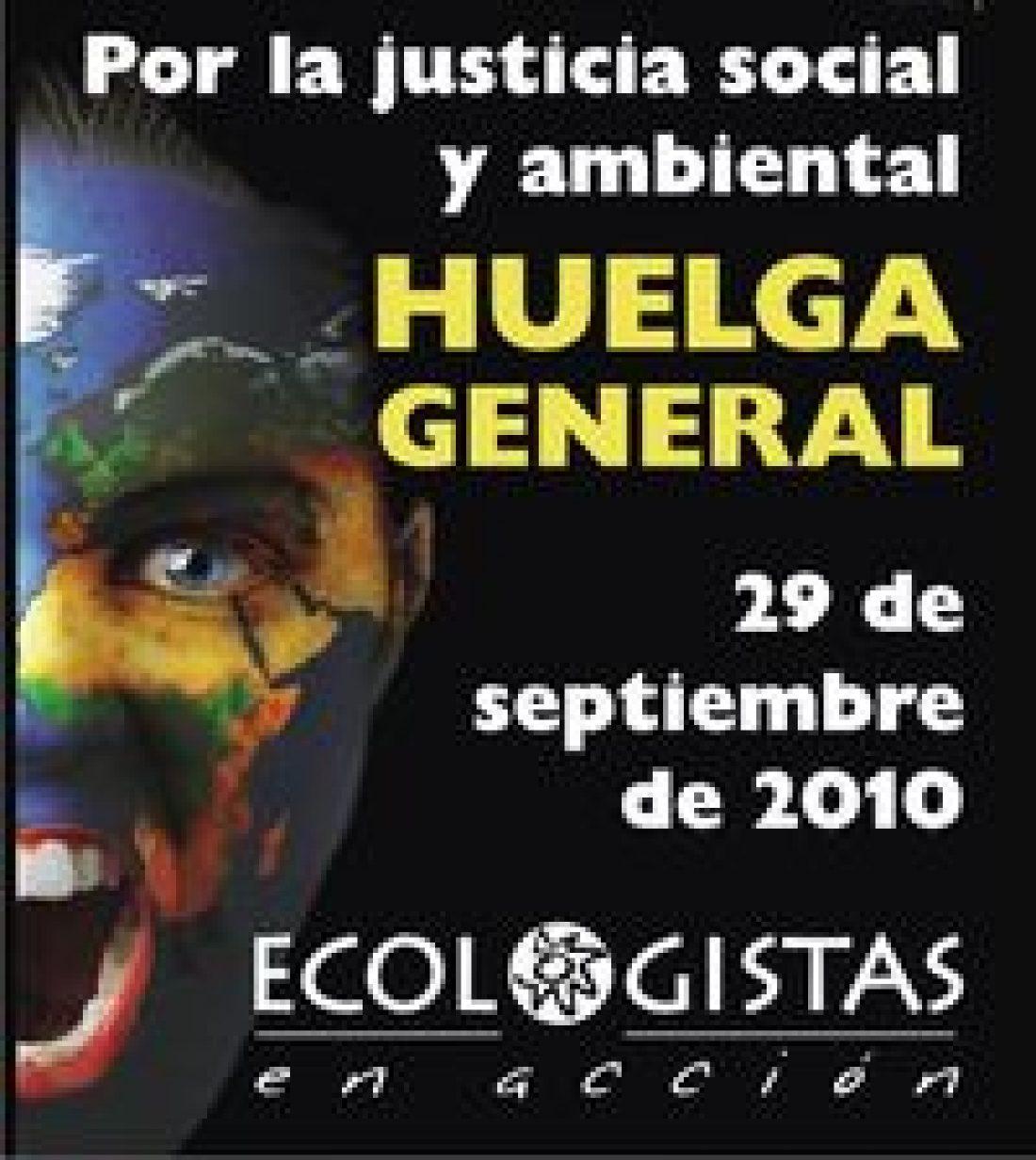 El ecologismo secunda la Huelga General del 29-S