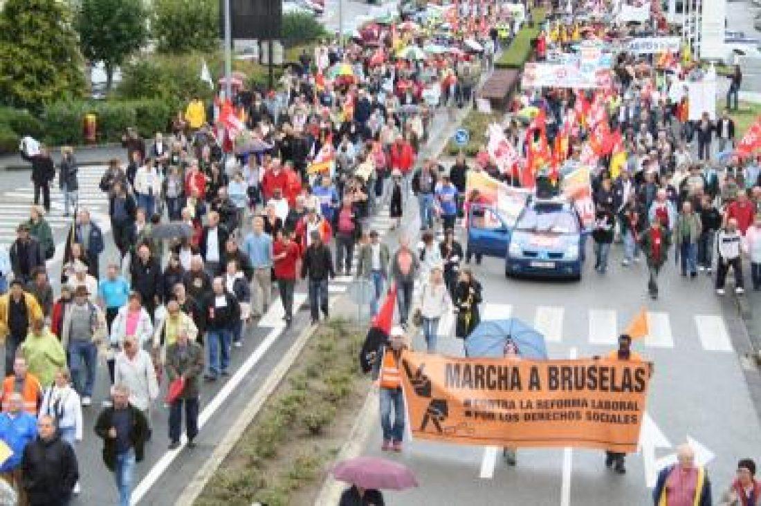 La Marcha a Bruselas a punto de alcanzar el ecuador de su andadura y se acerca a Orleans