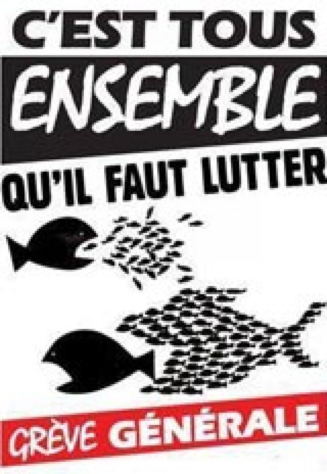 Madrid, 23 de septiembre: Concentración ante la embajada francesa, en apoyo a la huelga general en Francia el 23-S