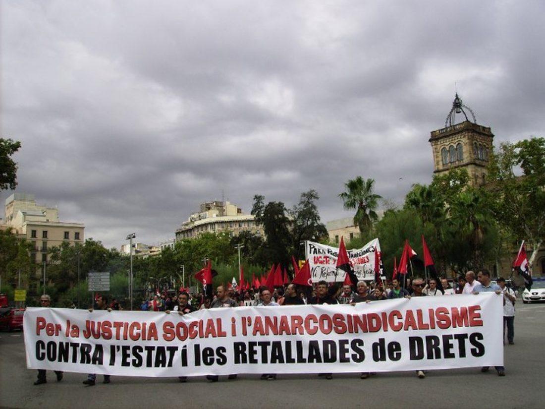 Celebrada en Barcelona la manifestación unitaria anarcosindicalista