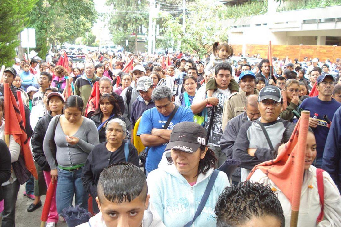 500 personas se concentran en México DF en apoyo de CGT y la huelga del 29-S (27/9/10)