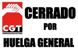 Convocatorias de CGT el 29-S: ¡HUELGA GENERAL!