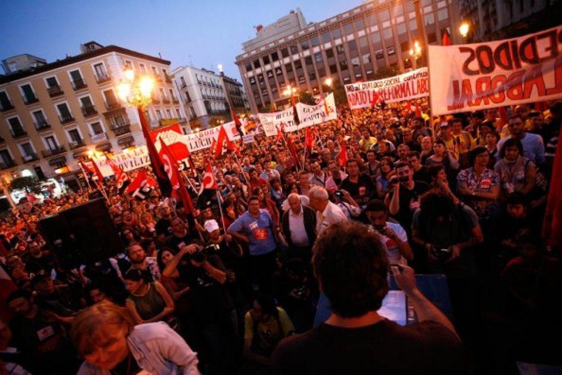 15000 personas en la Manifestación de la Huelga General en Madrid