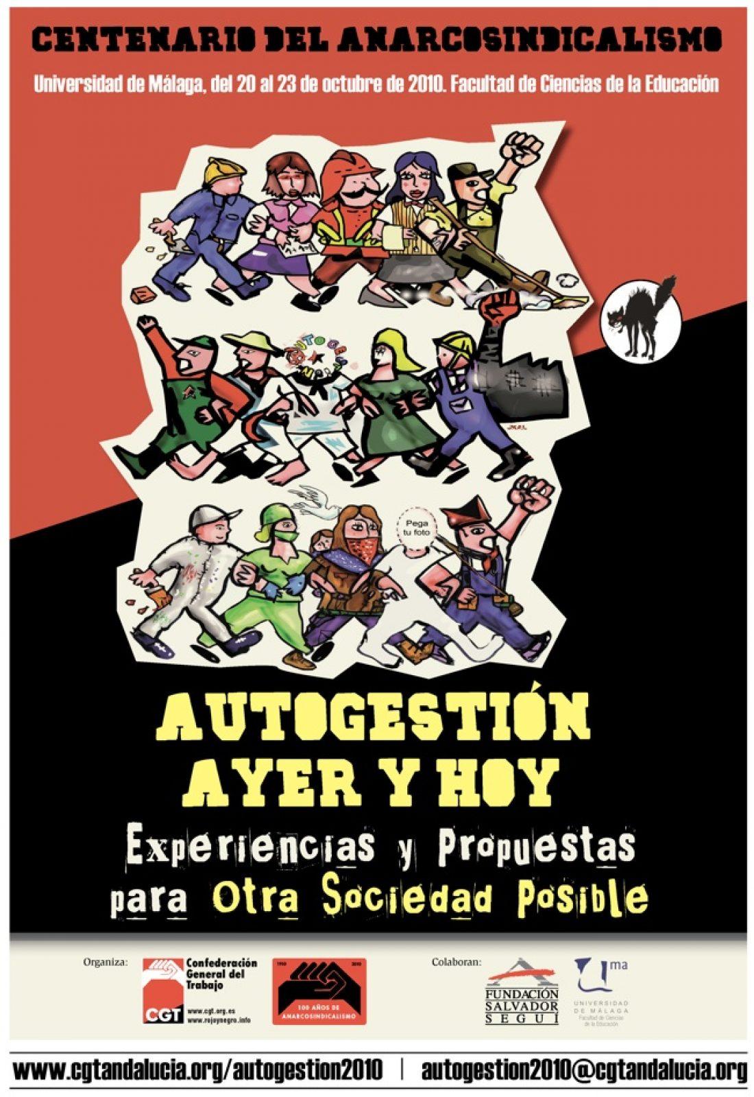 Málaga, del 20 al 23 de Octubre: Jornadas CGT Centenario del Anarcosindicalismo.