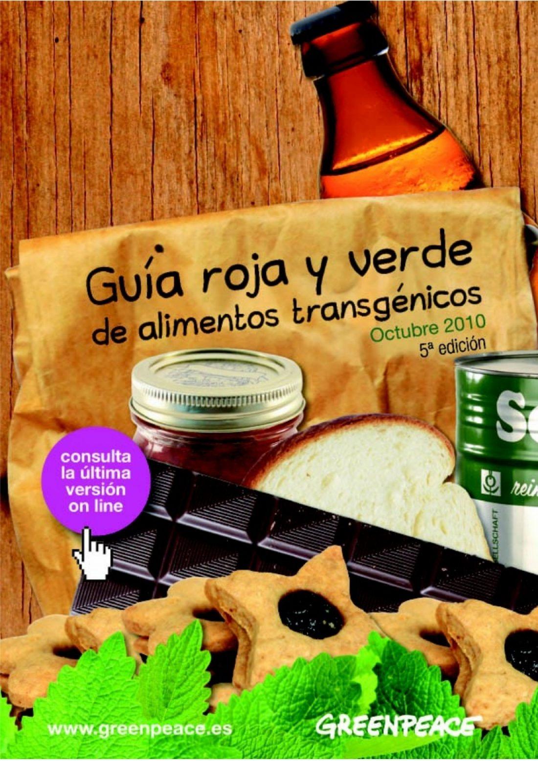 Nueva Guía Roja y Verde de los alimentos transgénicos