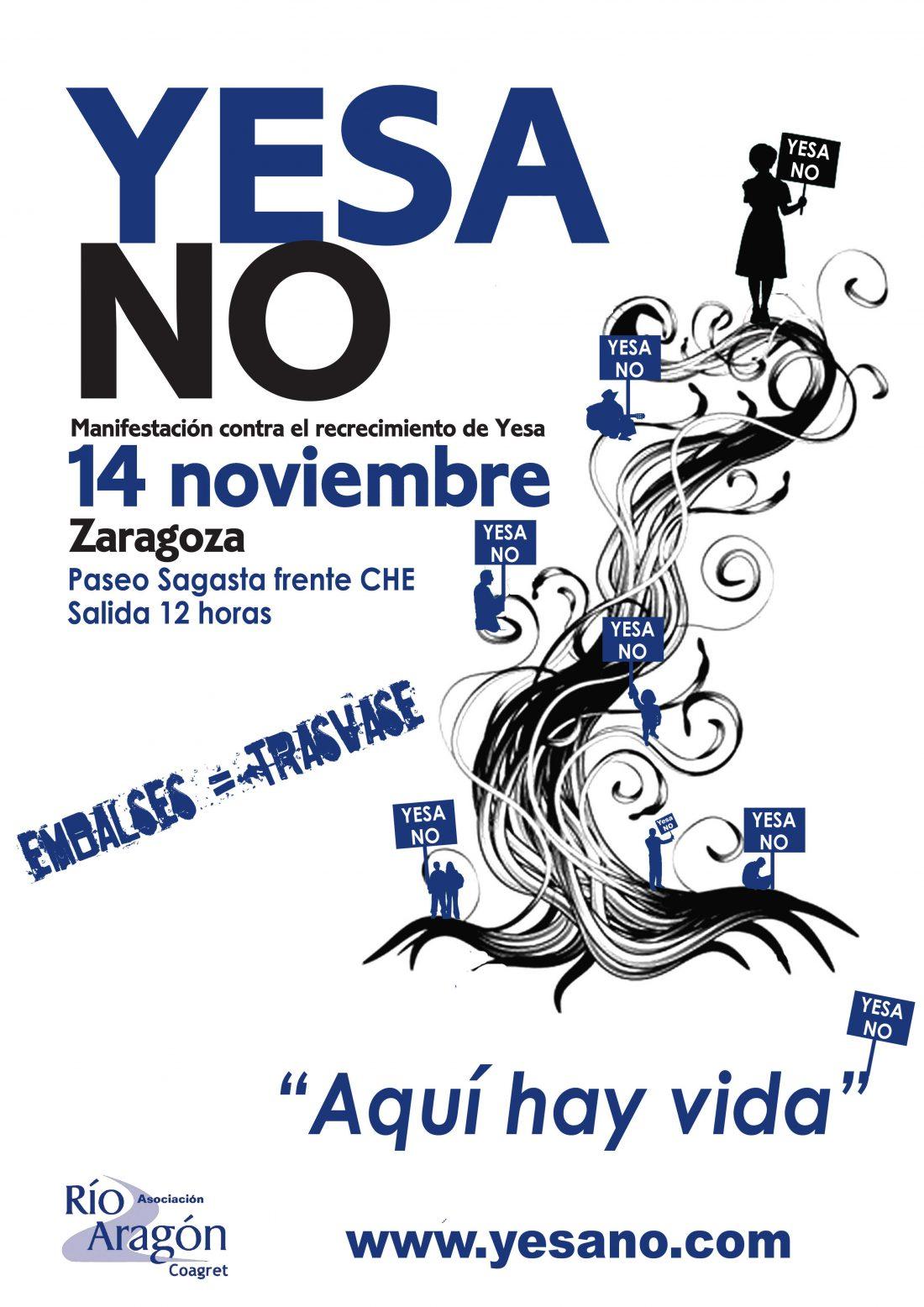 Zaragoza, 14 de Noviembre: Manifestación contra el recrecimiento de Yesa