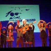 Más de 1700 personas en el concierto de Paco Ibáñez organizado por la CGT de Barcelona en el BTM -antiguo Palacio de los deportes- (26/11/2010)