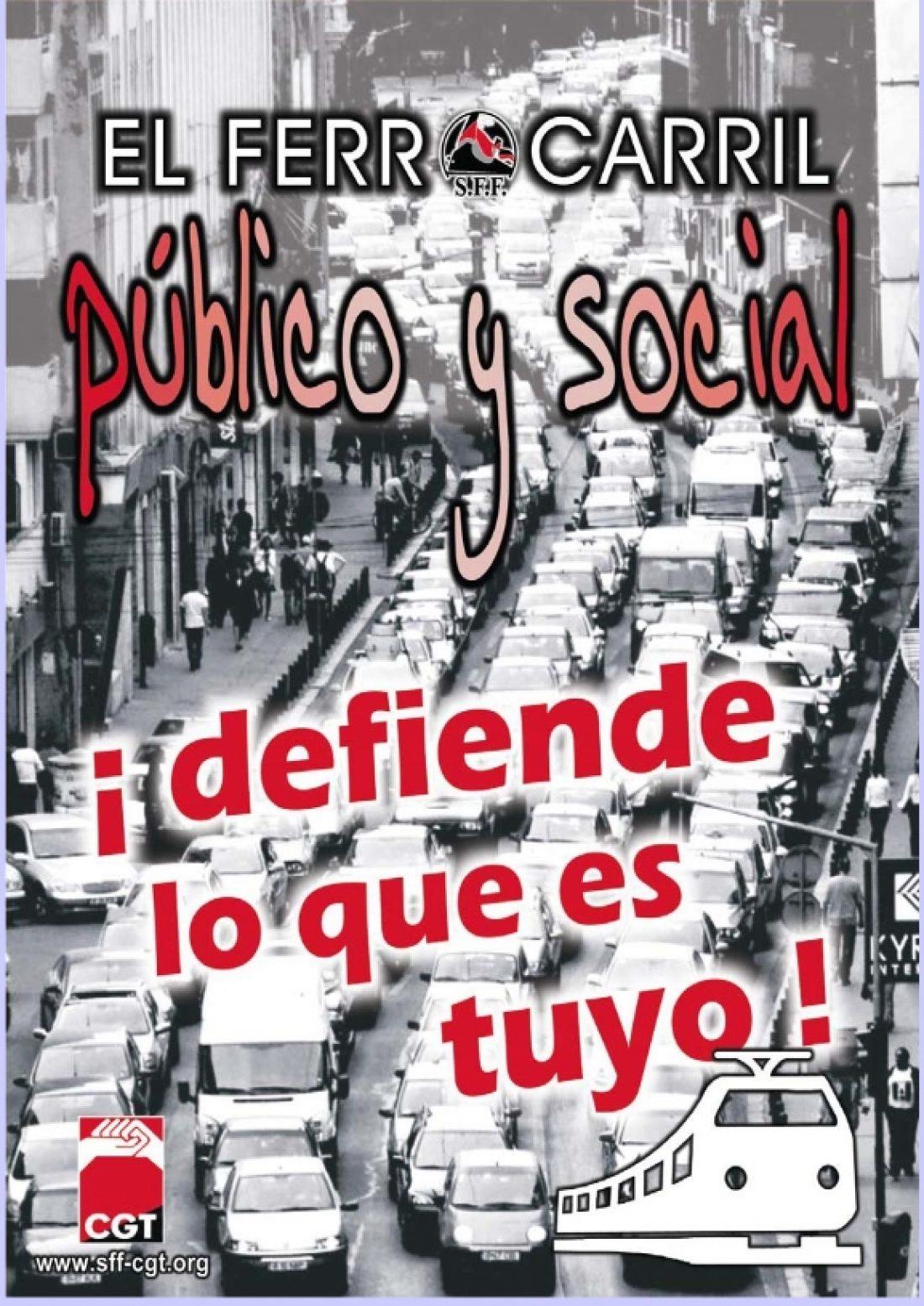Madrid, 16 de noviembre: Jornadas «Por un ferrocarril público y social»