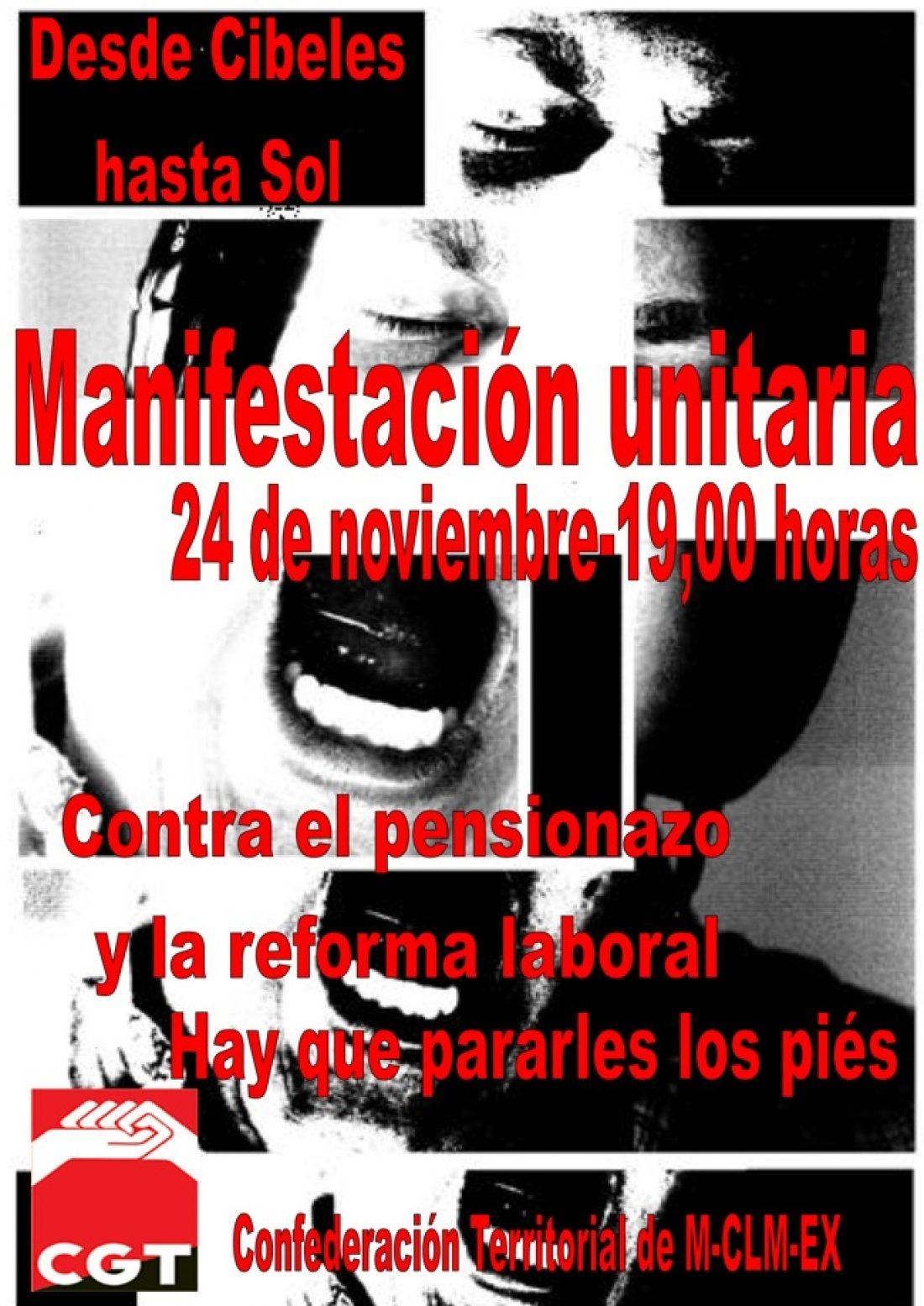 Madrid, 24 de noviembre: Manifestacion. Continuan las movilizaciones por otra huelga general