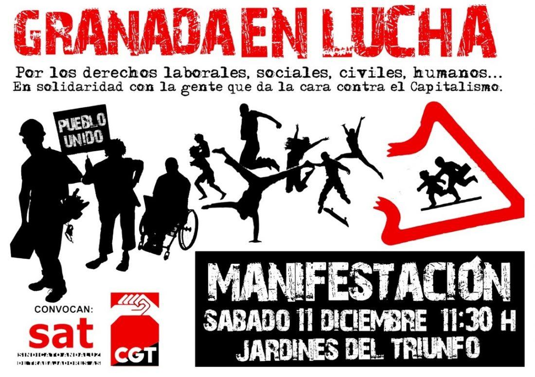 Granada, 11 de diciembre: Manifestación por los derechos laborales y sociales