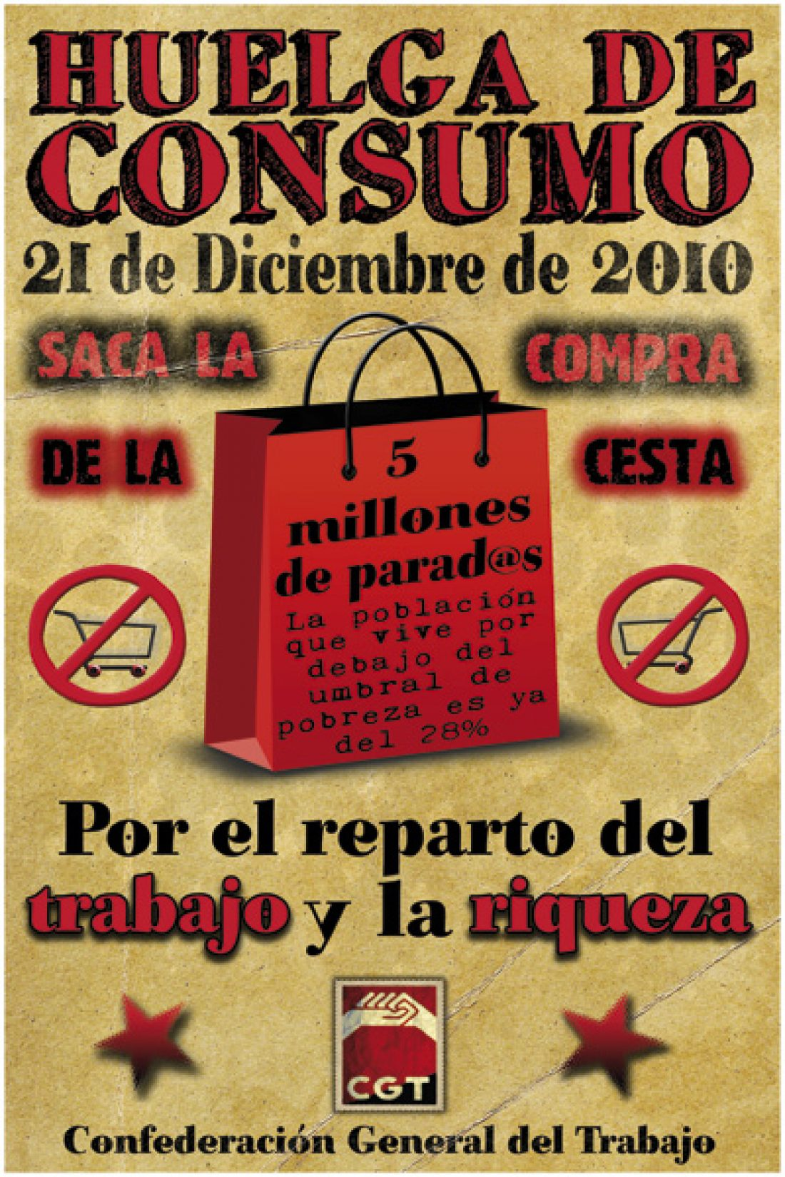 Hoy 21 de Diciembre, Huelga Estatal de Consumo