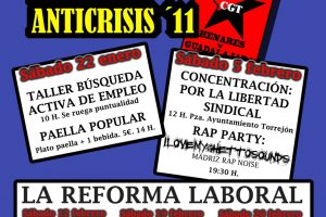 Torrejón de Ardoz, 5 de febrero: Concentración contra la represión sobre CGT del Ayuntamiento