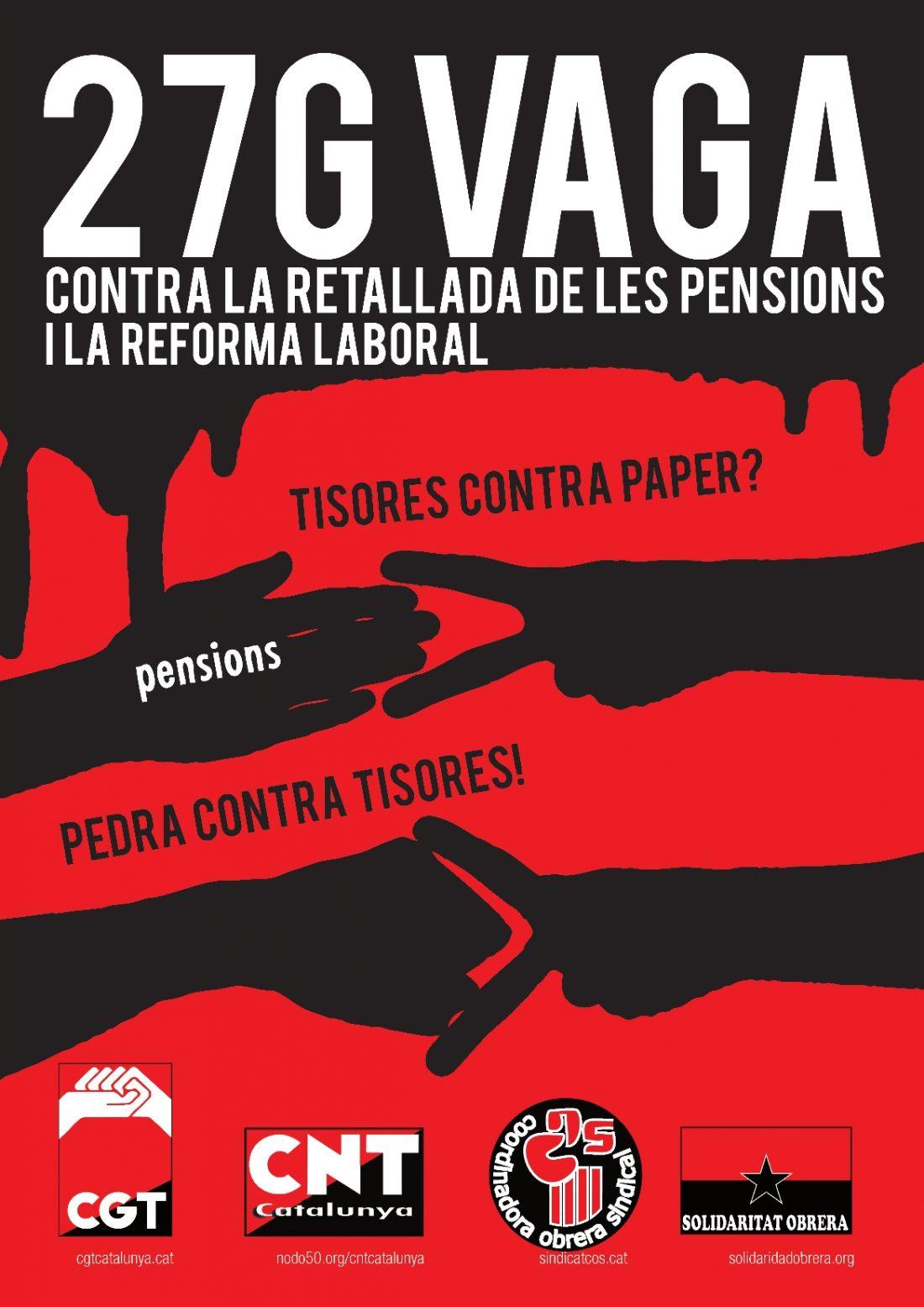 La CGT de Catalunya convoca Huelga General el próximo día 27 de Enero
