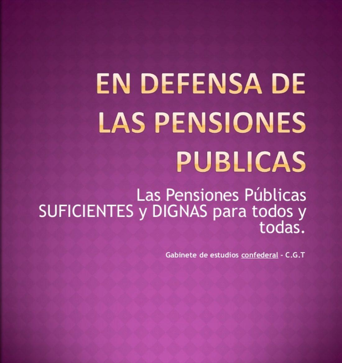 Presentación «En defensa de las pensiones públicas para todos y todas»