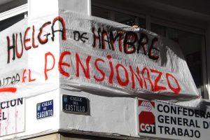Miembros del Comité Confederal de la CGT en huelga de hambre contra el pensionazo