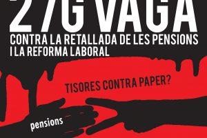 Catalunya: Convocatorias de CGT para la huelga general del 27E