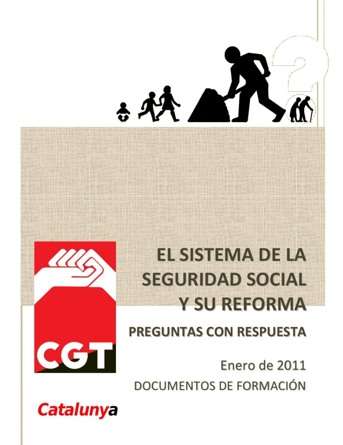La CGT de Catalunya edita «El sistema de la Seguridad Social y la reforma de las pensiones. Preguntas con respuesta»
