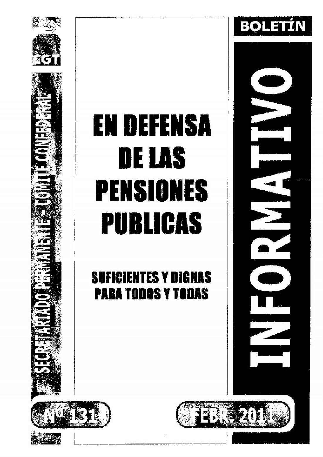 131. En defensa de las pensiones pública