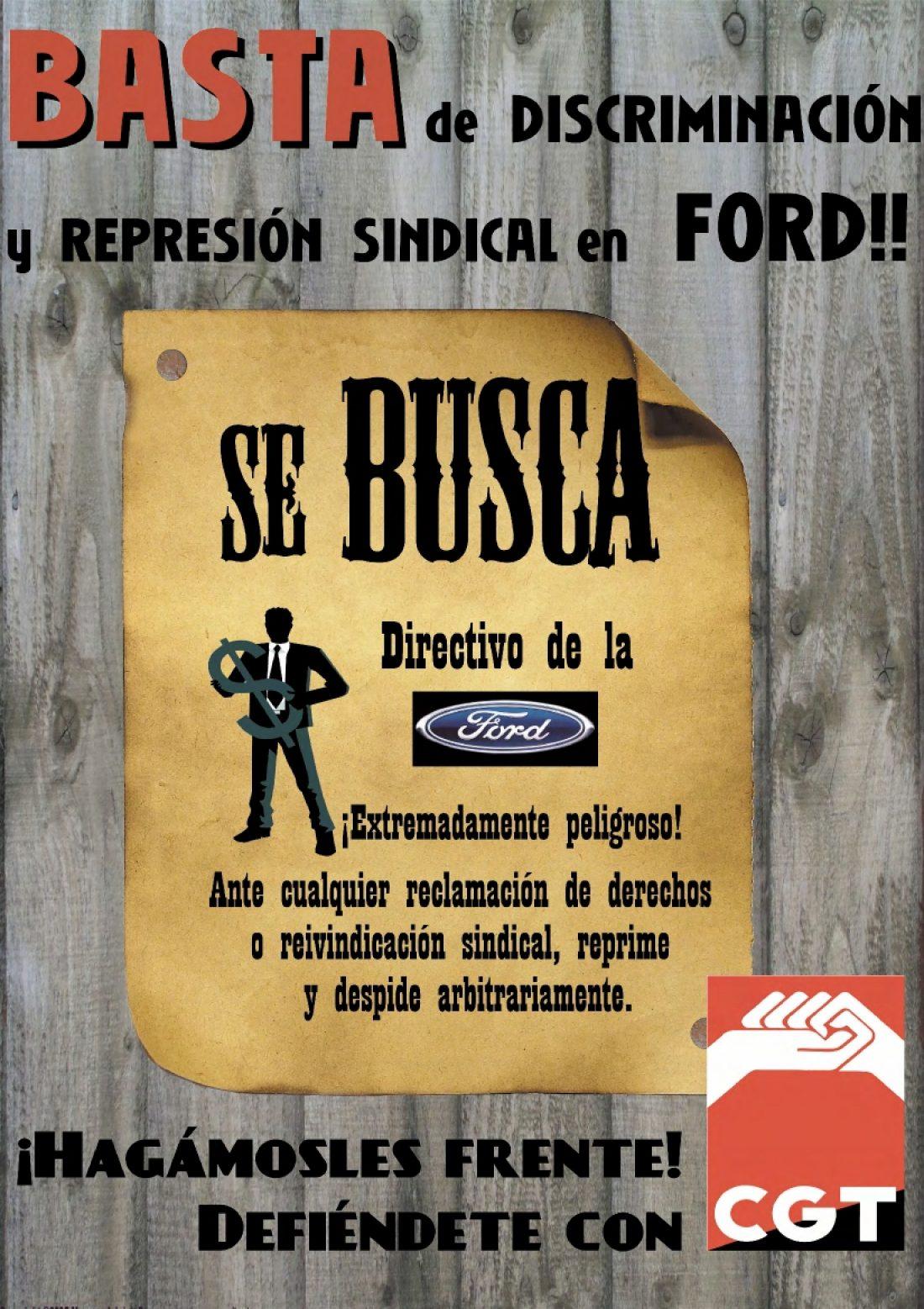 Campaña de CGT contra la represión y el despido de sindicalistas en Ford