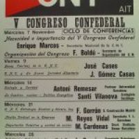Cartel Ciclo Conferencias V Congreso CNT (Barcelona 1979)