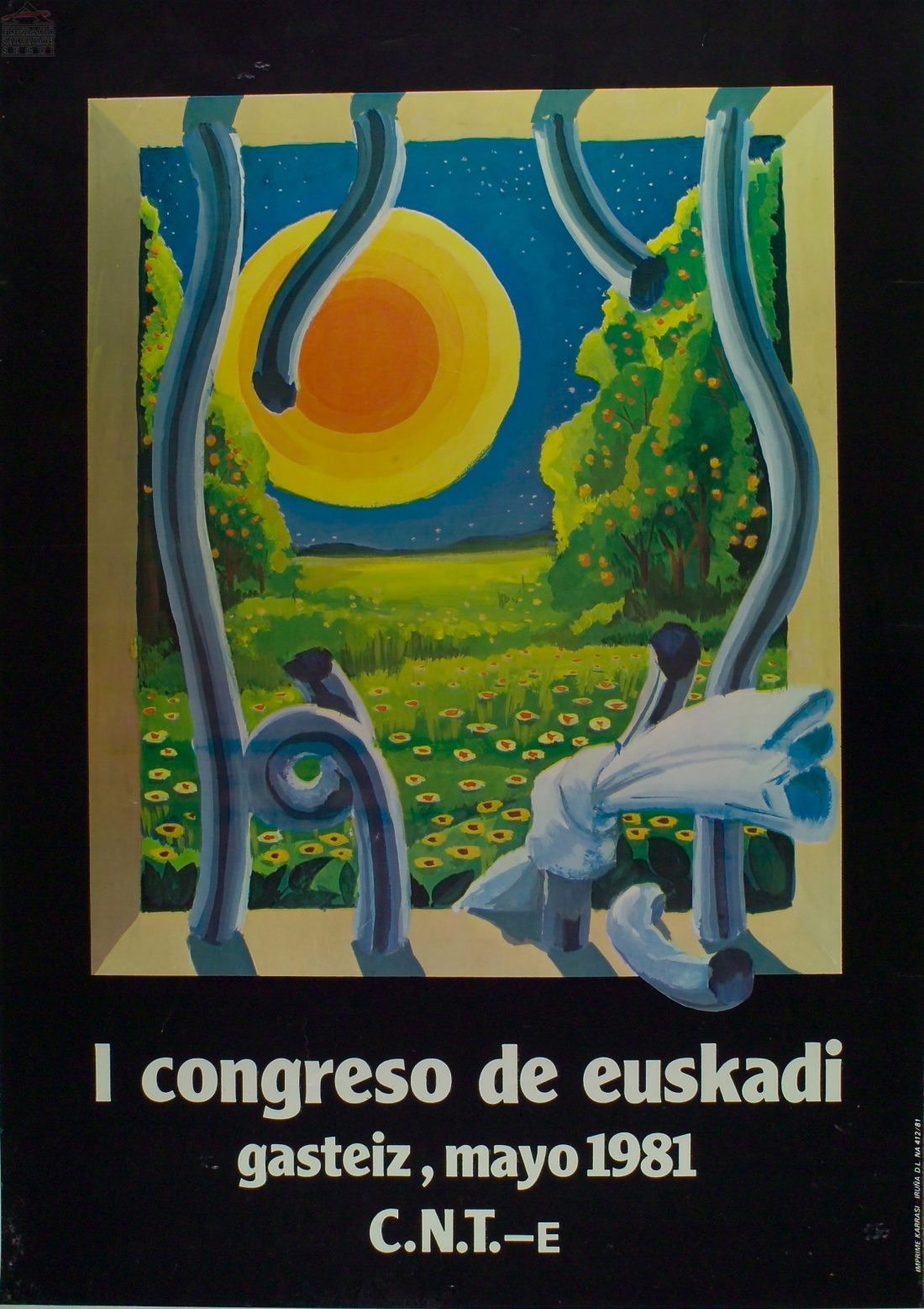 Cartel I Congreso Euskadi CNT (Gasteiz 1981)