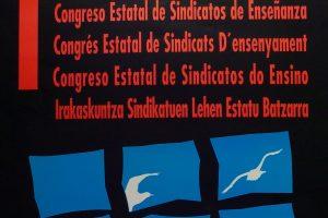 Cartel I Congreso Sindicatos de Enseñanza CGT (Valladolid 1996)