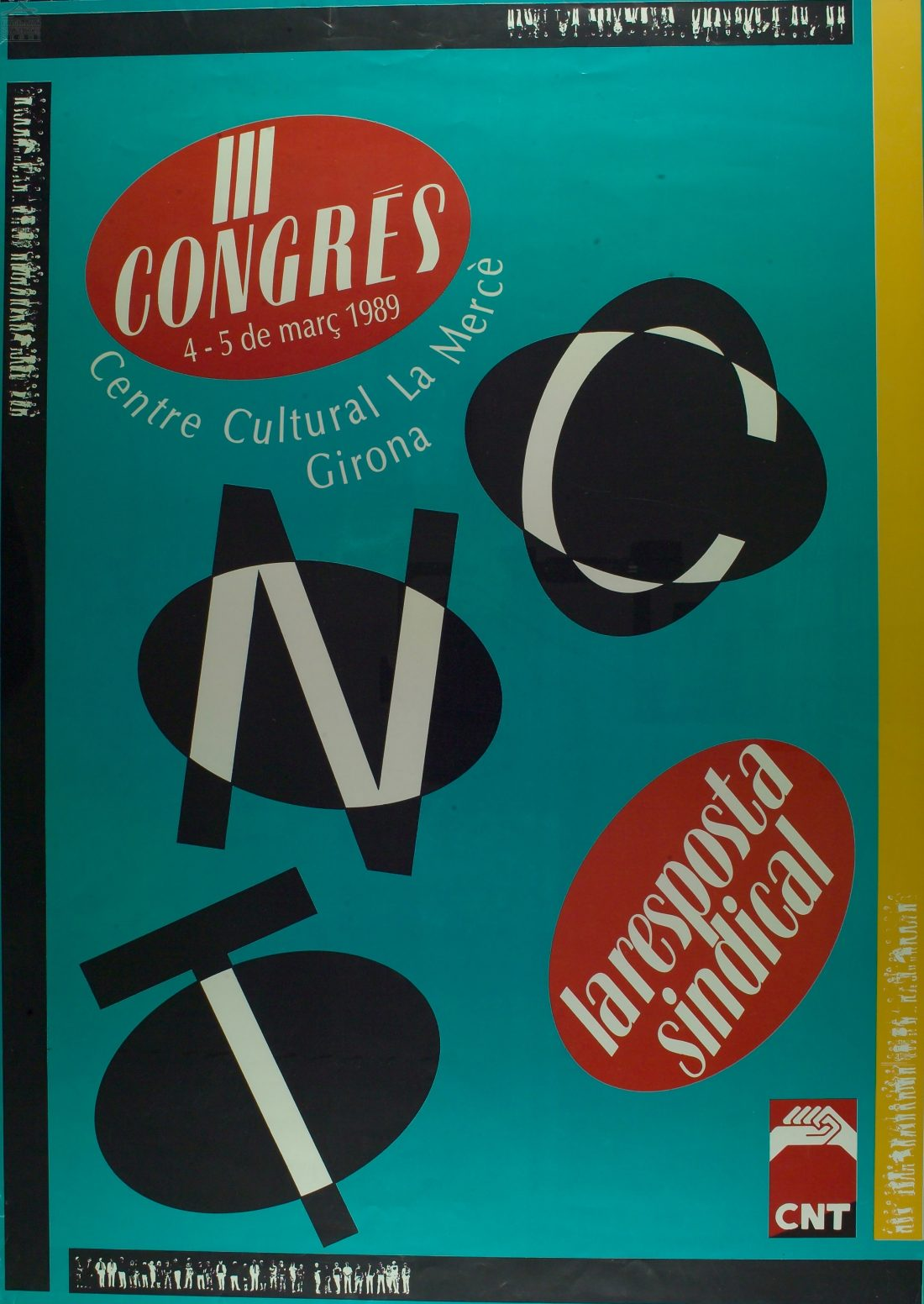 Cartel III Congrés CNT Catalunya (Girona 1989)