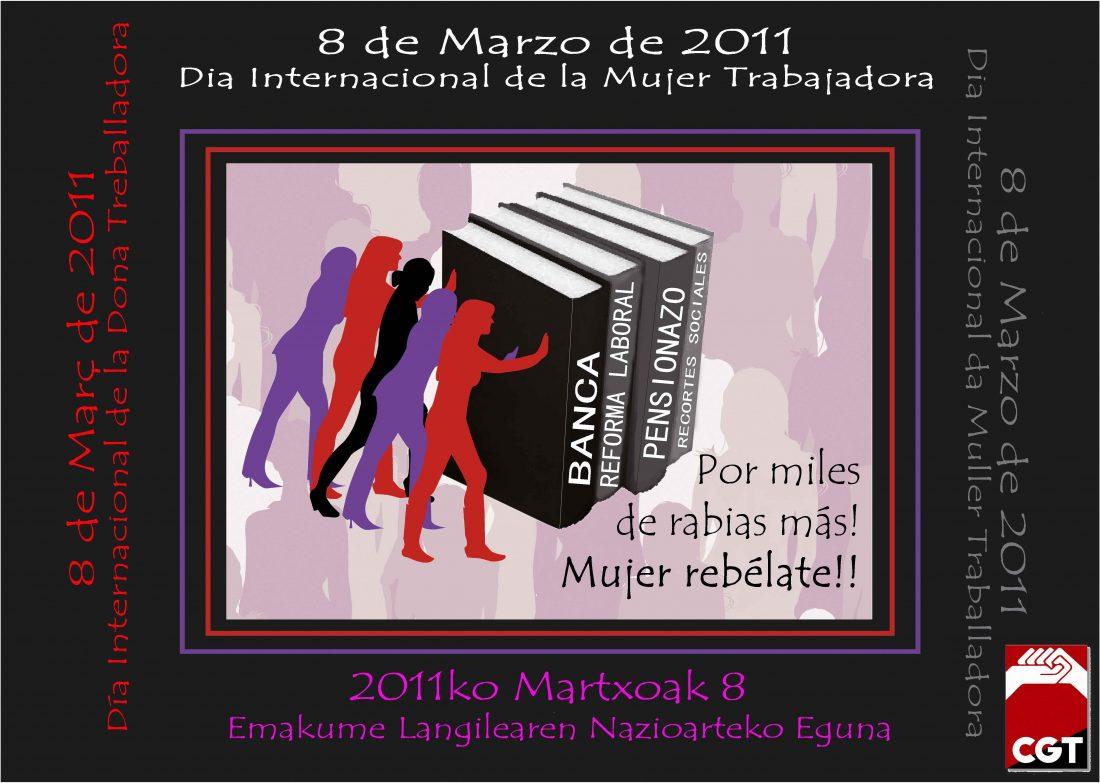 8 de Marzo, Día Internacional de la Mujer Trabajadora. Convocatorias y Actos.