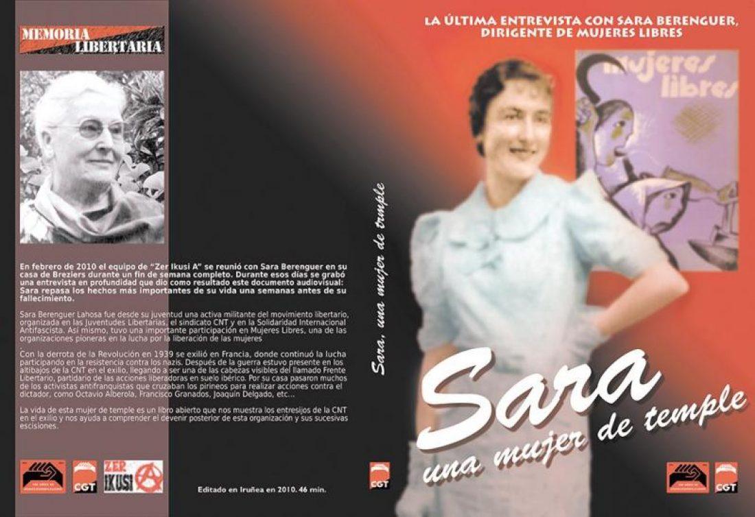 CGT edita un documental en DVD sobre Sara Berenguer