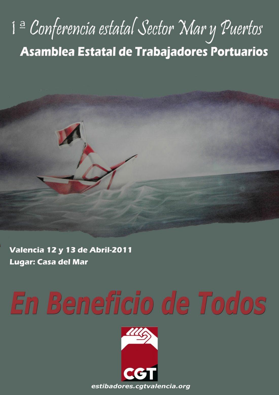Valencia, 12 y 13 de Abril. Conferencia del Sector de Mar y Puertos de CGT