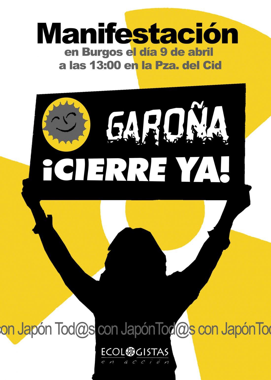 Burgos, 9 de Abril: Manifestación por el cierre de Garoña y contra la energía nuclear.