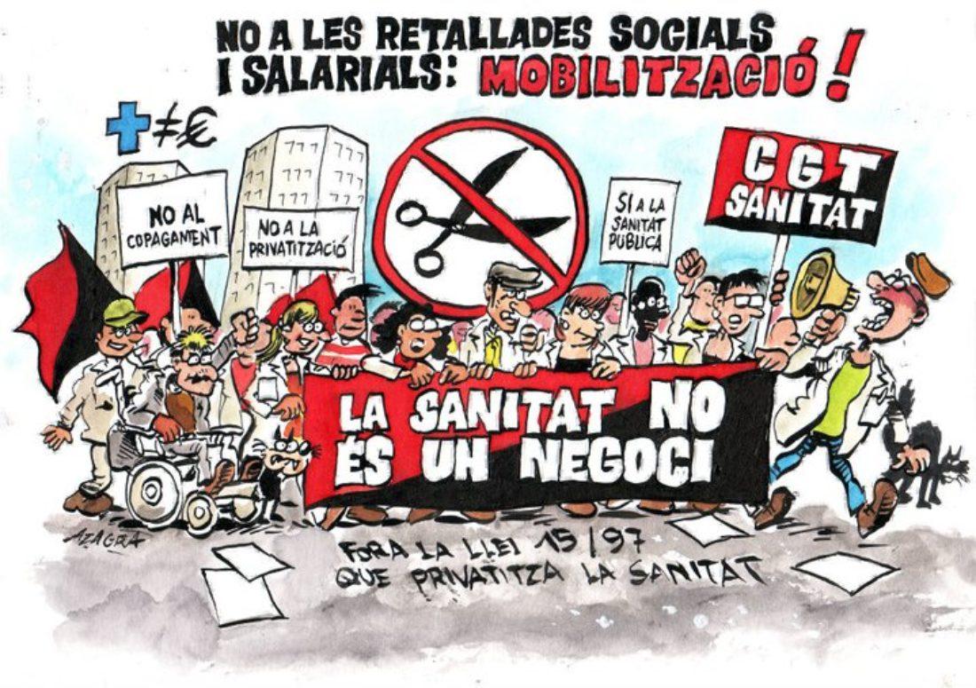 Barcelona, 14 de Abril: Movilizaciones contra los recortes en sanidad y en defensa de los servicios públicos